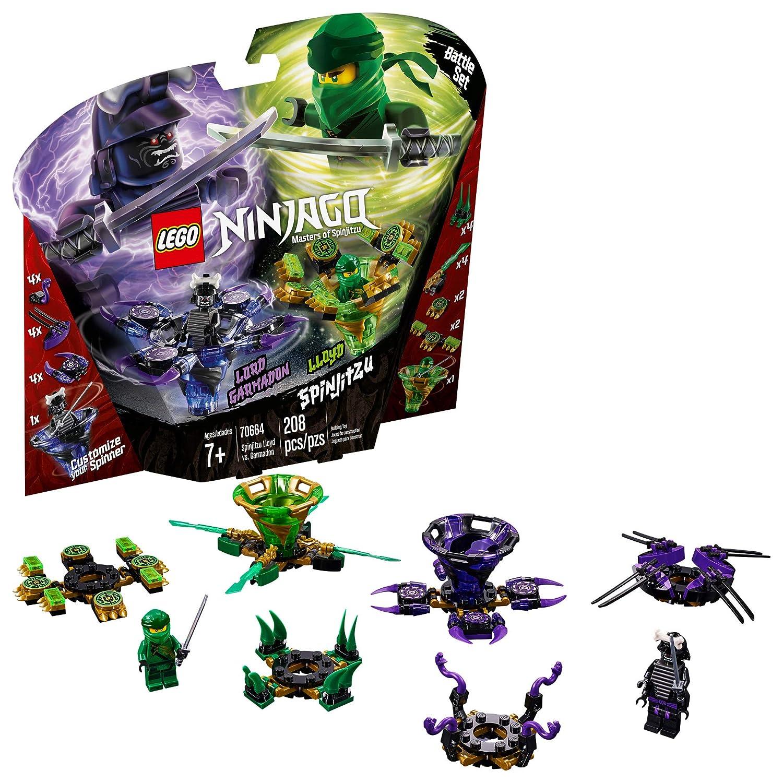 amazing selection uk store pretty cool LEGO NINJAGO Spinjitzu Lloyd vs. Garmadon 70664 Building Kit, 2019 (208  Pieces)
