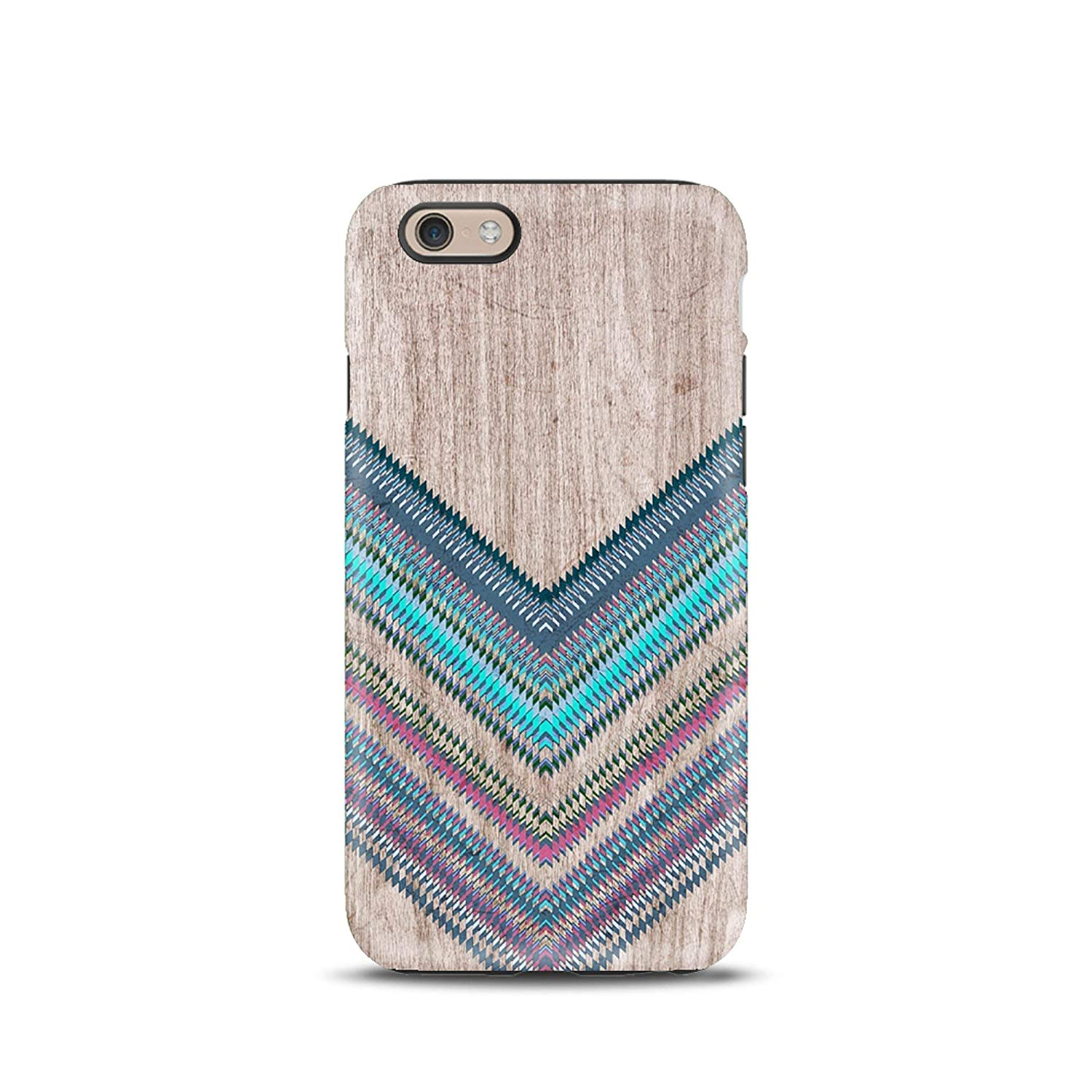 Tribale Legno cover case custodia per iPhone 5, 5s, 6, 6s, 7, 7 plus, 8, 8 plus, X, XS, per Galaxy S6, S7, S8