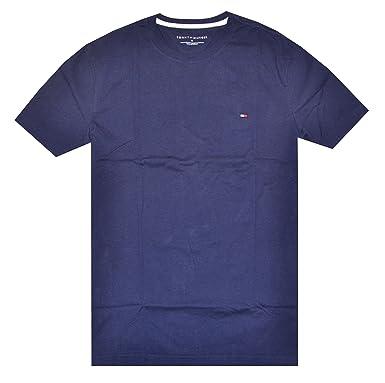 Tommy Hilfiger Camiseta Clásica Cuello redondo para Hombre: Amazon ...