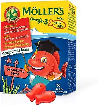 Mollers ® | Omega 3 para niños | Omega 3 Cápsulas de Aceite de Pescado con