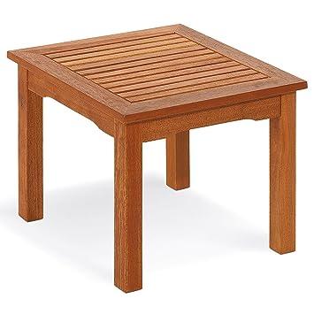Table en bois, Table d\'appoint en bois 42 x 50 x 50 cm mod.Hibiscus,