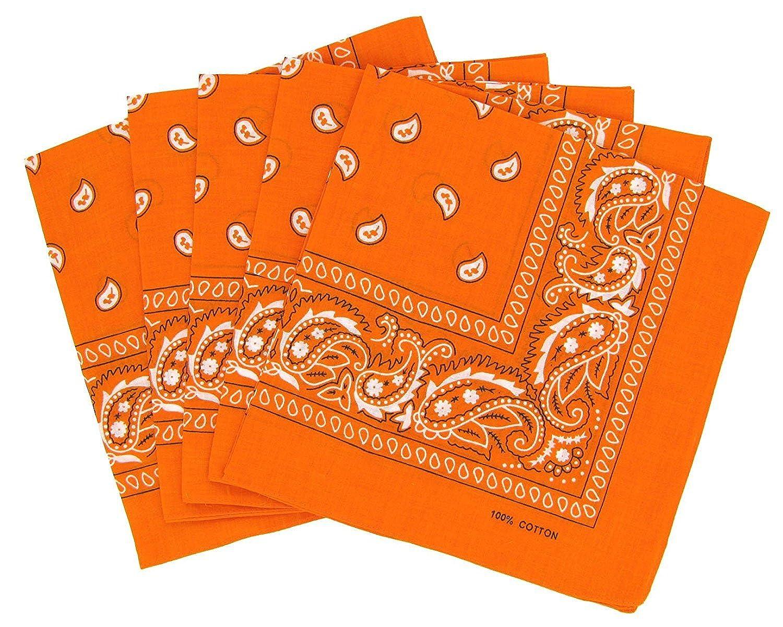 KARL LOVEN Lot de bandanas 100/% Coton paisley foulard fichu bandana 25 couleurs au choix Lot 5//10 20