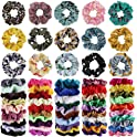 65-Pieces Cehomi Elastic Bobbles Soft Hair Scrunchies Velvet