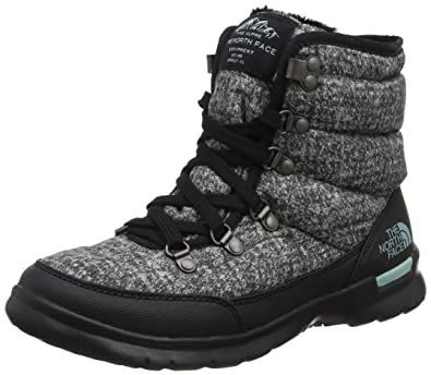 4f361bd28a The North Face Thermoball Lace II, Bottes de Neige Femme, Gris (Burnished  Houndstooth