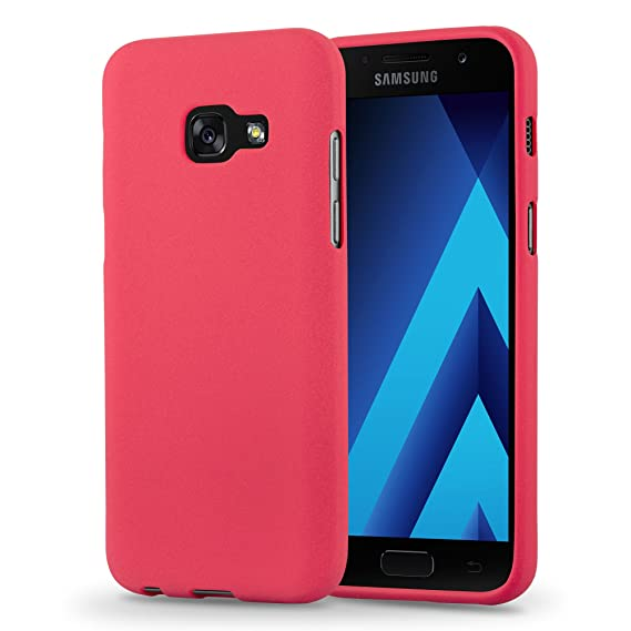 quality design daa99 b5781 Cadorabo Case Works with Samsung Galaxy A5 2017 in Frost RED – Shockproof  and Scratch Resistant TPU Silicone Cover – Ultra Slim Protective Gel ...