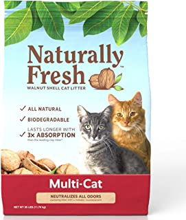 product image for Naturally Fresh Cat Litter - Walnut-Based Quick-Clumping Kitty Litter, Unscented, Multi Cat, 26 lb