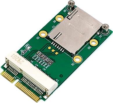 Mini PCI-E Adapter with SIM Card Slot for 2G//3G//4G WWAN LTE WLAN CDMA GPS Card