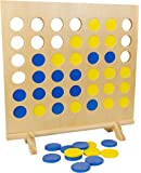 Intex Syndicate LTD Giant Wooden 4-in-A-Row Game Wooden Strategy Game