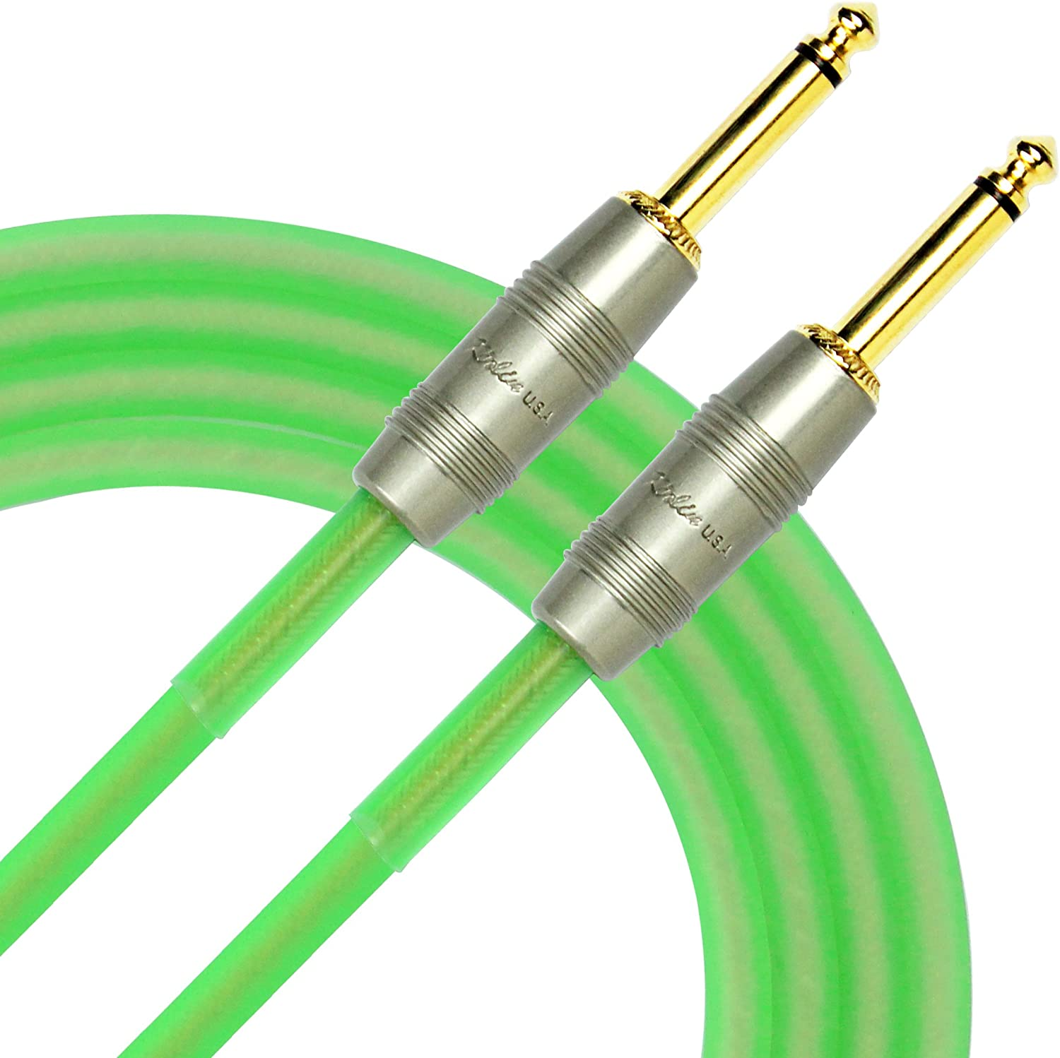 Kirlin IM-201 PRG-20//GRF 2 Pack 20FT Electric Guitar Instrument Cable 7mm 20AWG