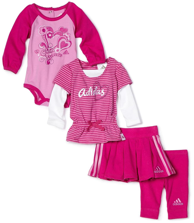 adidas Baby Girls Infant 4 Piece Cheer Gift Set