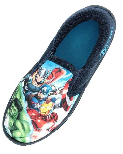 a1c9e57efdf1 Boys Marvel Avengers Hulk Iron Man Captain America Slippers Shoes Toddler  Children s Size UK 10 -