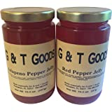 Jalapeno Jelly and Red Pepper Jelly Set. Pack of Two 10.5 oz. Jars. Perfect for lovers of Pepper Jelly and Hot Pepper Jelly. ...