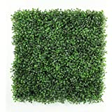 Artificial Boxwood Topiary Hedge Plant Sound Diffuser Privacy Fence Screen Greenery Wall Covers 16 SQ feet 6 Panels 20''x 20'' Suitable for Both Outdoor or Indoor, Garden, Backyard and Home Décor