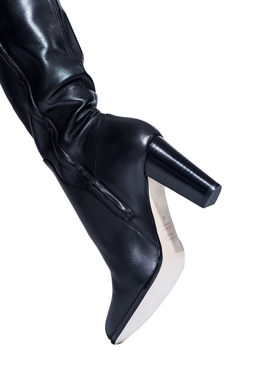 AROLLO AROLLO AROLLO Damen Overknee Victoria Echtleder Stiefel 104132