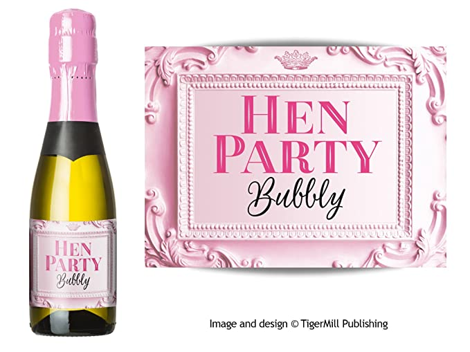 Personalised TEAM BRIDE Hen Party Photo CHAMPAGNE WINE Prosecco Bottle Labels
