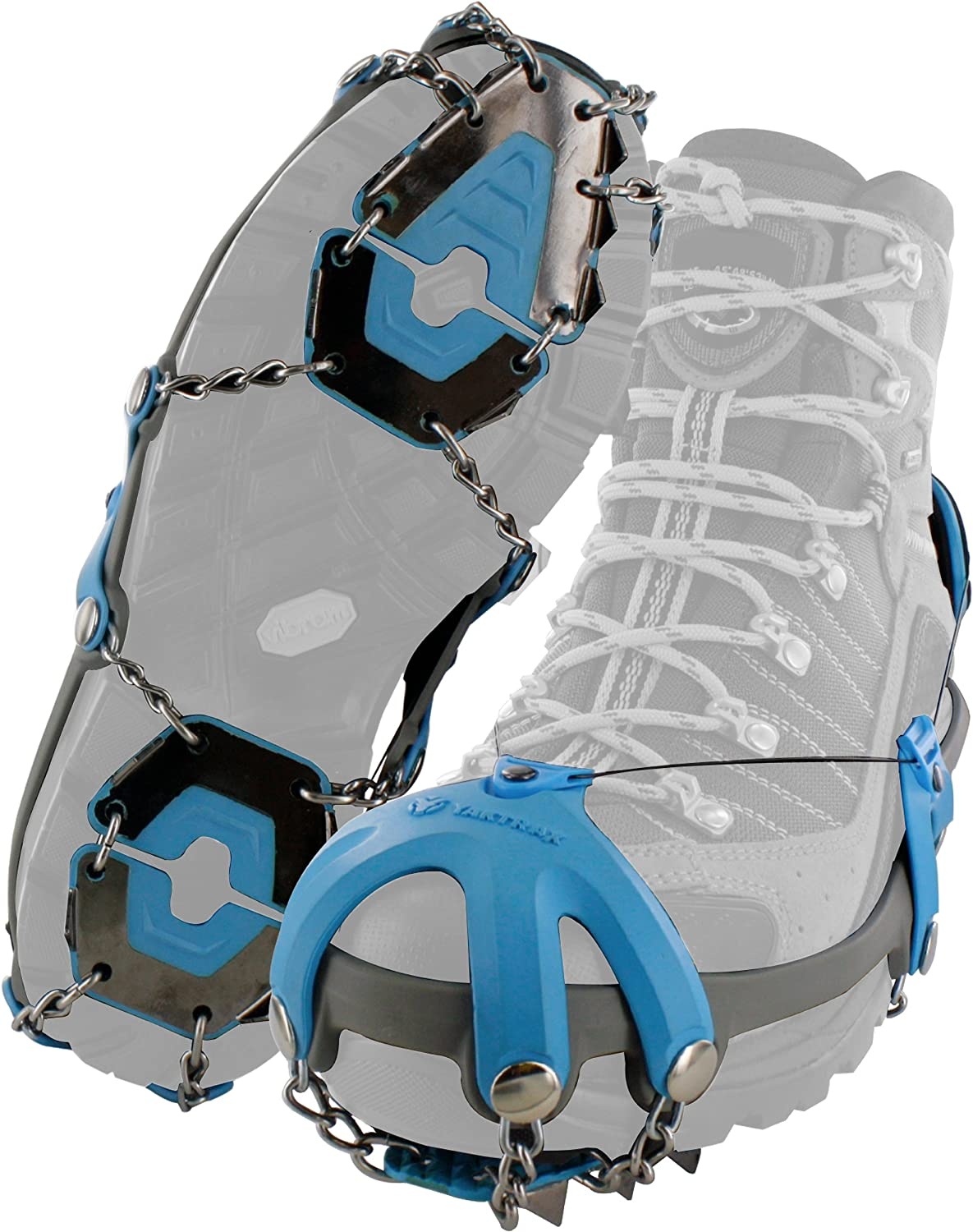 Yaktrax Summit Heavy Duty Traction Cleats with Carbon Steel Spikes for Snow and Ice (1 Pair)