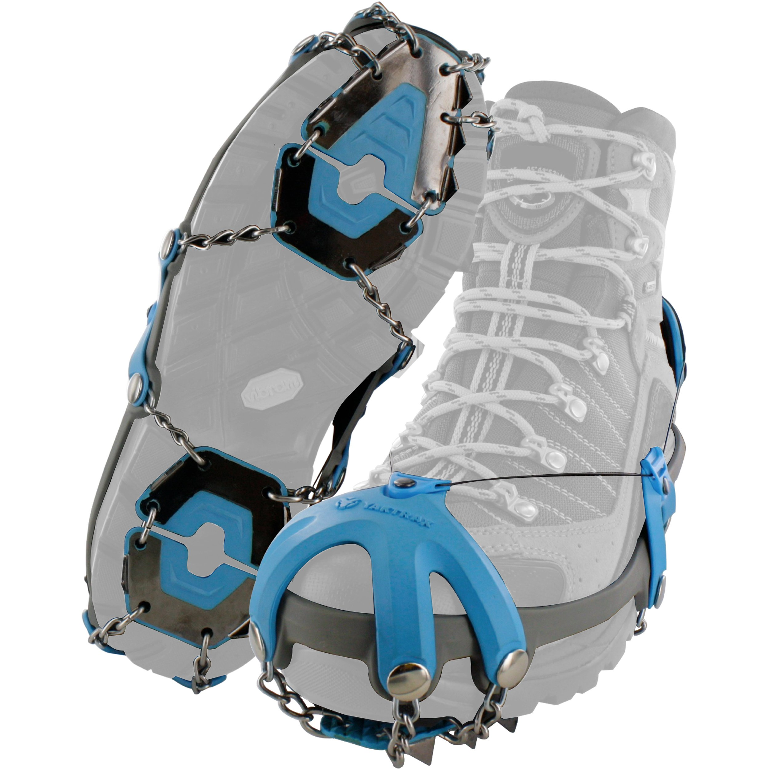 Yaktrax Summit Heavy Duty Traction Cleats with Carbon Steel Spikes for Snow and Ice (1 Pair), Medium