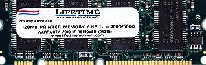 128MB HP Laserjet Printer 100-pin Memory for HP Laserjet 1320 2300 2505 2550 2605 2700 2820 2840 3390 3392 4100 4200 4300 5100 8150 9000 (p/n C9121A, Q9121A, Q7709A)