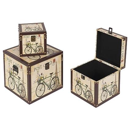 Set de 3 cajas 25x25x25 1 diseño