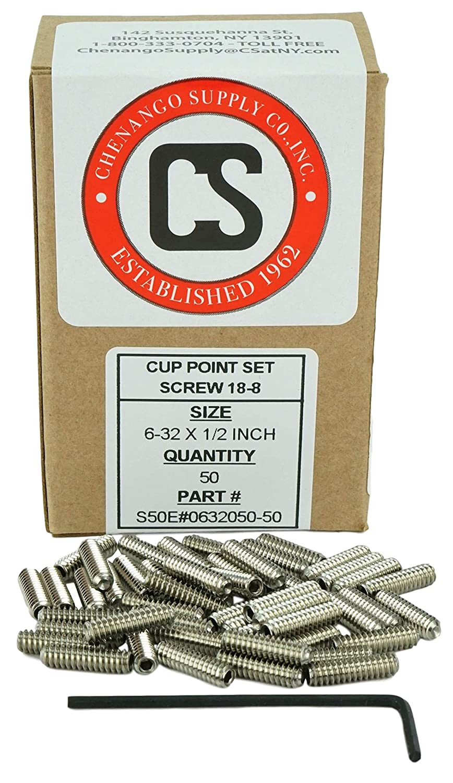"1//4-20 x 1//4/"" Grub Screws Allen Socket Set Screw Stainless Steel Qty 25"