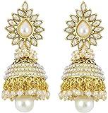 Shining Diva Bollywood Inspired Pearl Polki Stylish Fancy Party Wear Traditional Jhumki / Jhumka Earrings For Girls / Women