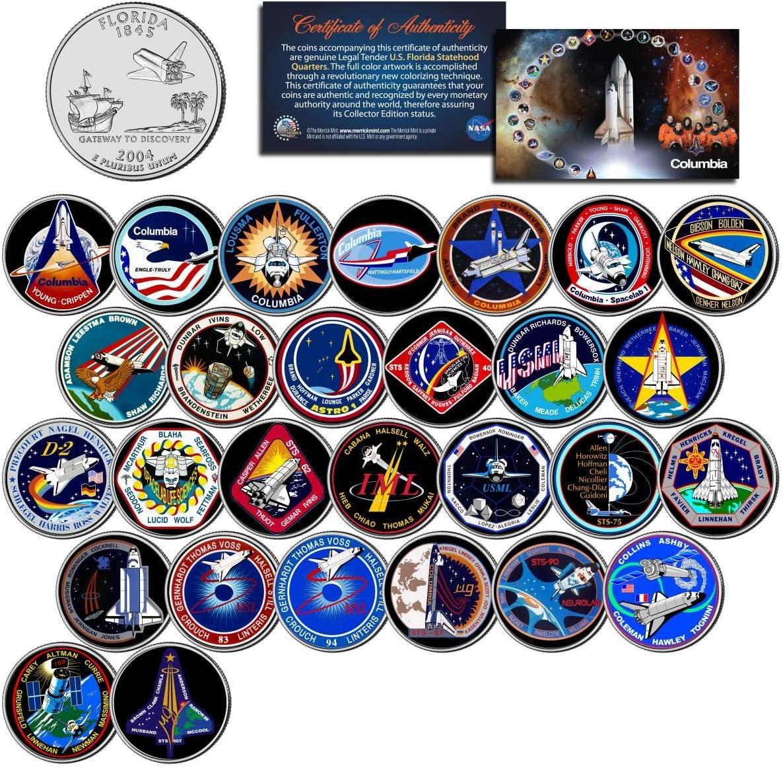SPACE SHUTTLE ATLANTIS MISSION NASA Florida Statehood Quarters 33-Coin Set w//Box