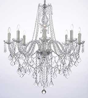 8 Light Crystal Chandelier: Crystal Chandelier Lighting 33ht X 28wd 8 Lights Fixture Pendant Ceiling  Lamp Free Shipping,Lighting