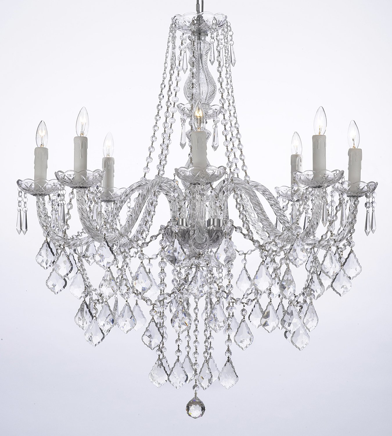 Crystal Chandelier Lighting 33ht X 28wd 8 Lights Fixture Pendant Ceiling Lamp by JAC D'LIGHTS
