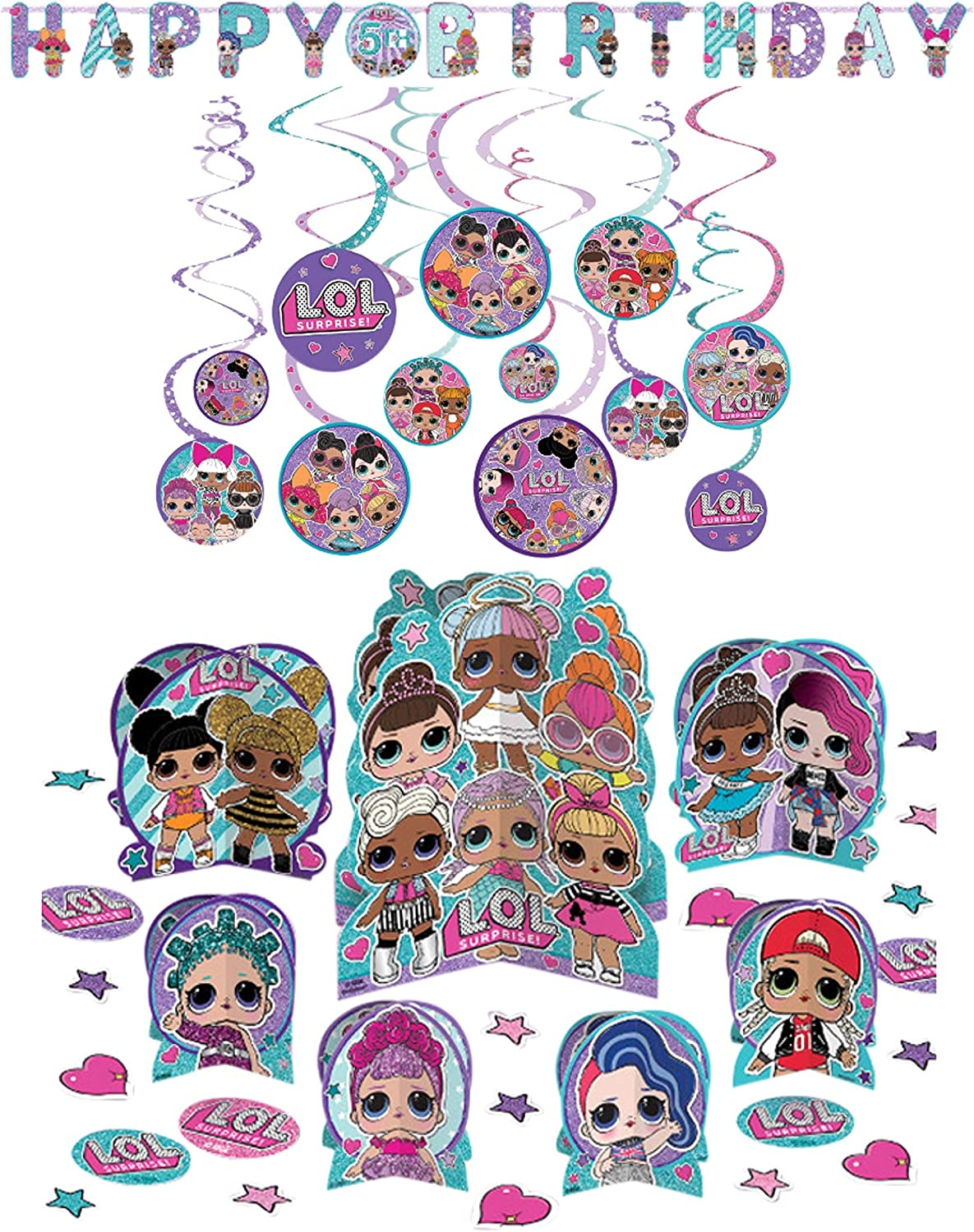 LOL Surprise Balloon Bouquet Birthday Pack Combo Decoration Props Banner