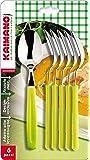 Kaimano KDN760206E Dinamik 6 Cucchiai, Verde Acido