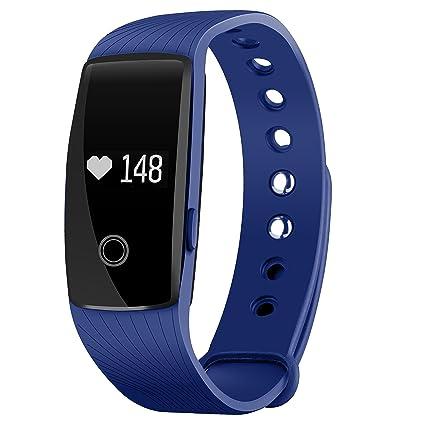 Seneo Fitness Tracker, Reloj Inteligente con Pulsómetro, IP67 Pulsera de Fitness Rastreador de Actividad Monitor de Frecuencia Cardíaca Podómetro ...