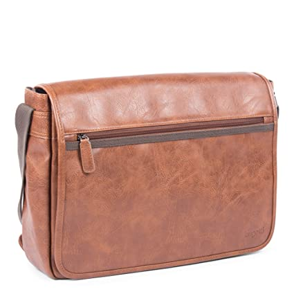 9c5b5756d952 Image Unavailable. Image not available for. Color  Bugatti Valentino  Messenger Bag ...