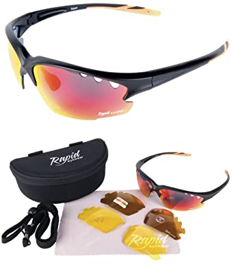 polarised sunglasses  Rapid Eyewear Expert Black Polarised Sunglasses for Sport, With ...