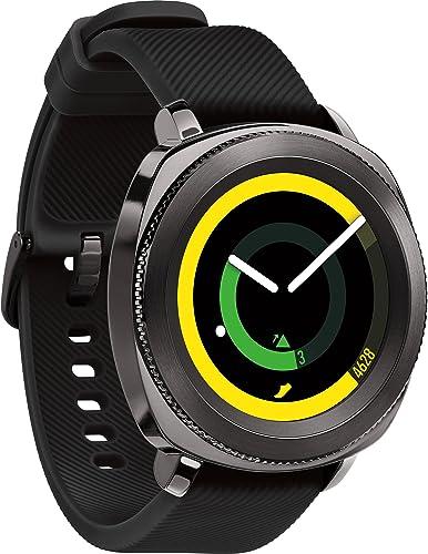 Samsung Gear Sport Smartwatch, Black SM-R600NZKAXAR Renewed