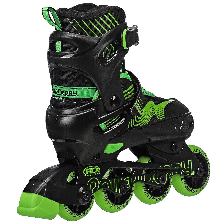 3-6 Roller Derby I173B Carver Boys Inline//Protective Skate Pack Medium