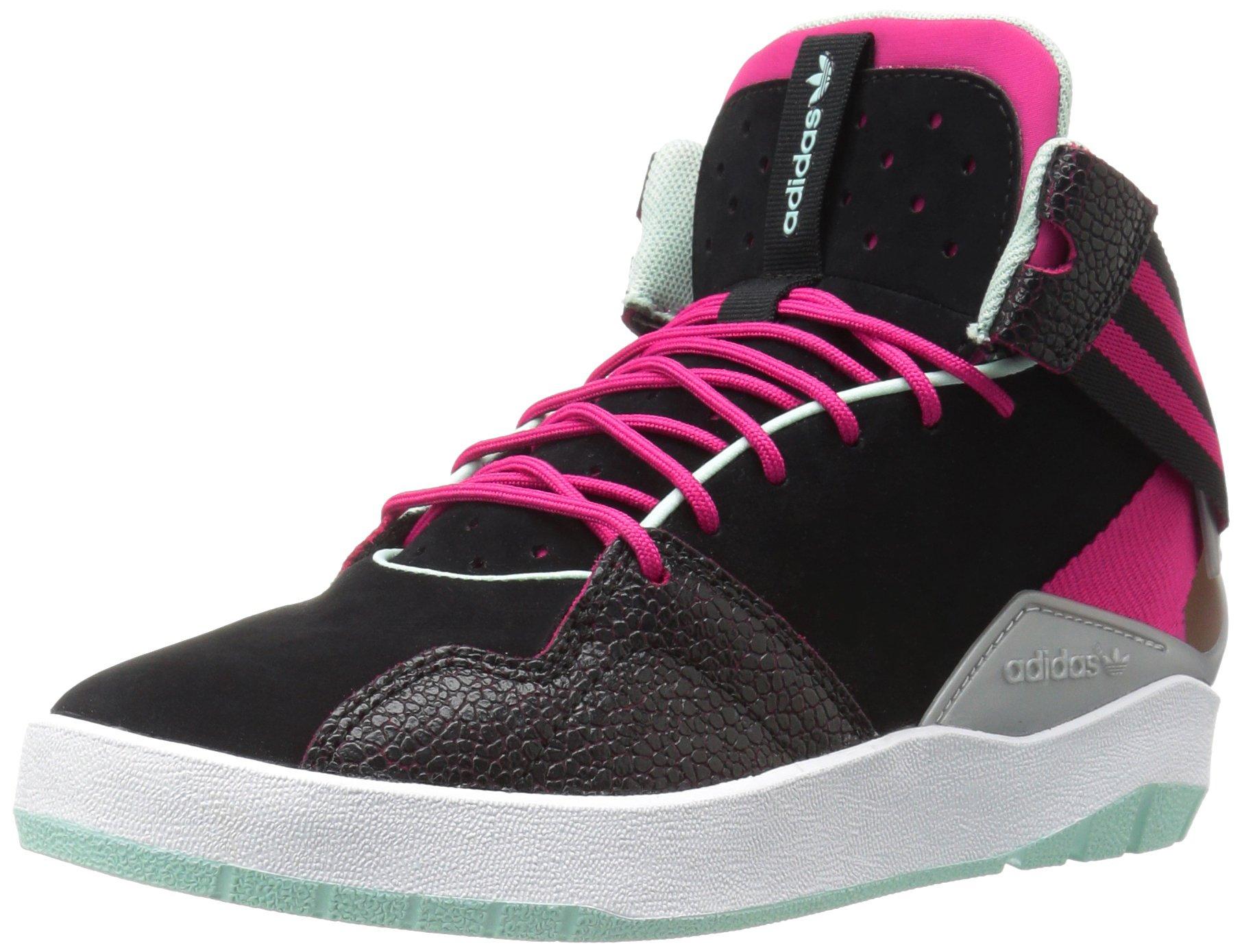 online store c2aaf cc181 Galleon - Adidas Originals Girls Crestwood Mid J Skate Shoe, BlackPink  Buzz Ice Green Fabric, 4.5 M US Big Kid