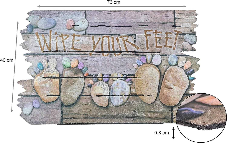 Antid/érapant Love is All You Need 76 x 46 cm Tapis Entree Large Choix de Motifs BSM 2000 Paillasson Exterieur Caoutchouc