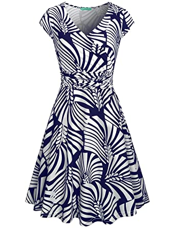 044955acfcf9 Modest Dresses for Women,Kimmery Feminine Loose fit Dinner Dress Flare Hem  Casual Business Style