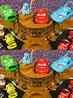 Disney Pixar Cars Ultimate Piston Cup Speedway Lightning McQueen Chick Hicks The King Races [OV]