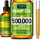 Hemp Seed Oil Drops 500,000 – Colorado Seed Extract - Natural Omega 3, 6, 9 Source - Grown and Made in USA - Balances Mood -