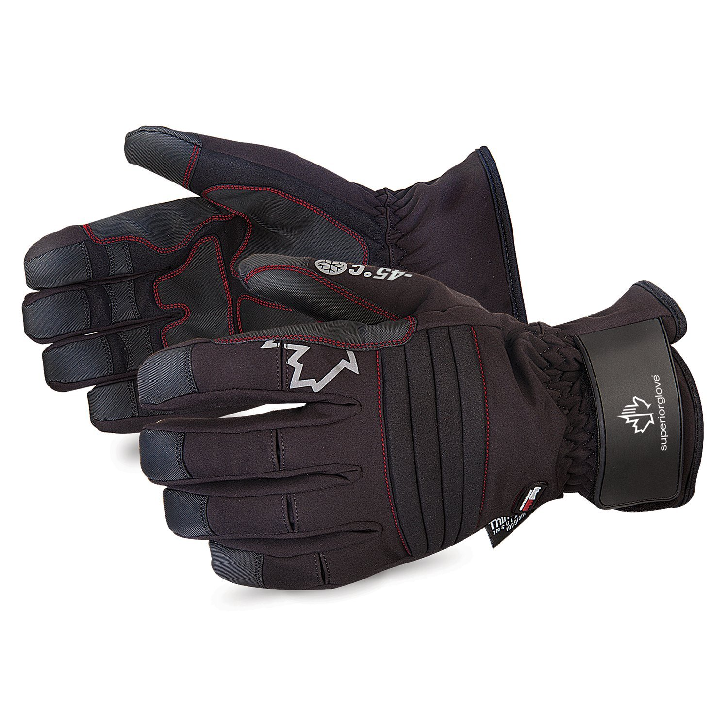 Superior Winter Snow Gloves – Waterproof, Windproof for Cold Sub-Zero Temperatures - Large Superior Glove Works SUSNOWD388VL