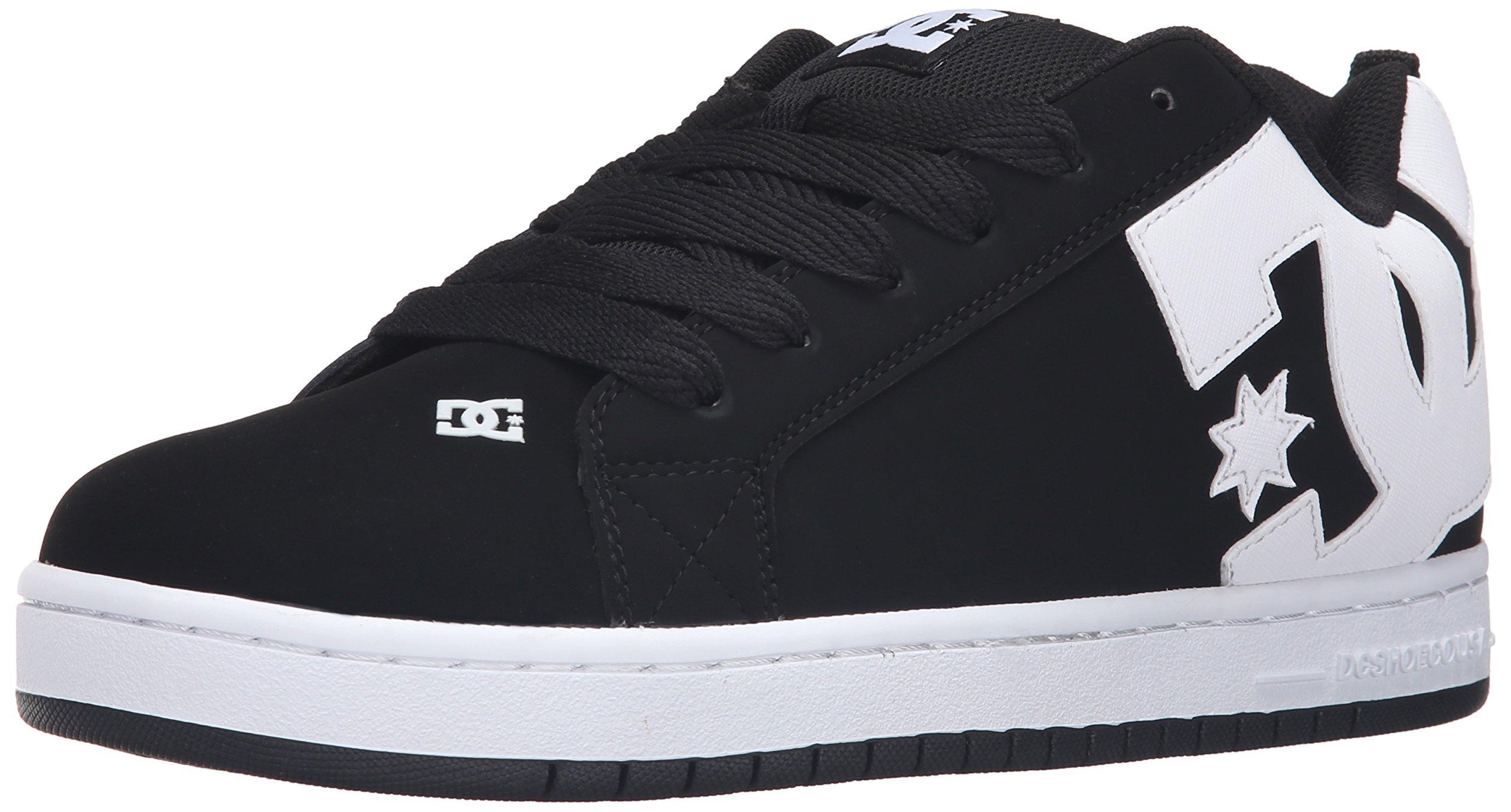 DC Men's Court Graffik Skateboarding Shoe, Black, 8.5 D D US by DC