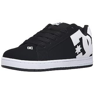 DC Men's Court Graffik Skateboarding Shoe, Black, 10.5D D US
