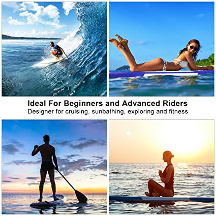 Amazon.com : Goplus Inflatable Stand up Paddle Board Surfboard SUP Board Adjustable Paddle Carry Bag Manual Pump Repair Kit Removable Fin All Skill Levels, ...