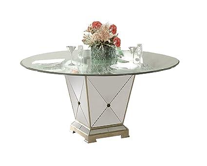 Greatest Amazon.com - Bassett Mirror Borghese Mirrored Pedestal Dining Base  VT17