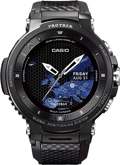 Amazon.com: Casio Pro Trek WSD-F30-BK - Reloj inteligente ...
