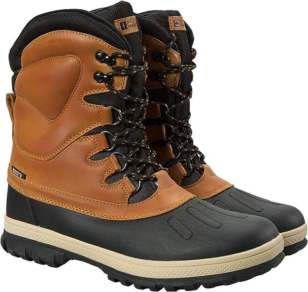 Mountain Warehouse Botas de Nieve Arctic Impermeables para Hombre Invierno Cordones Planos Calzado de Secado r/ápido c/álidas y de r/ápida absorci/ón para Nieve