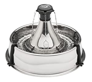 PetSafe Drinkwell 360 Multi-Pet Stainless Steel Dog and Cat Fountain, Filtered Water, 128 oz. Water Capacity