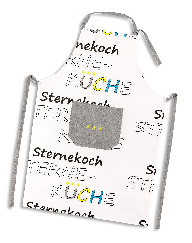 100/% Baumwolle KRACHT Geschirrtuch Frottier Sternekoch Format 50//50 grau