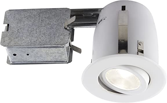 Bazz 510l8w Led Recessed Lighting Kit Par 20 Bulb Included Directional Dimmable Easy Installation Energy Efficient 4 In White Amazon Com